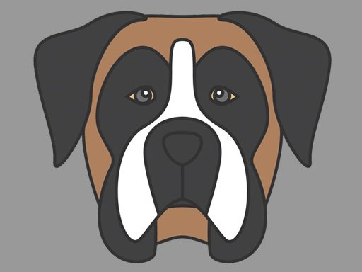 Doggy Face Coloring Online