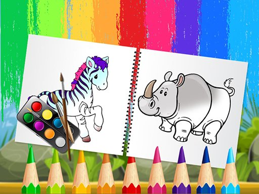 Funny Animals Coloring Book Online