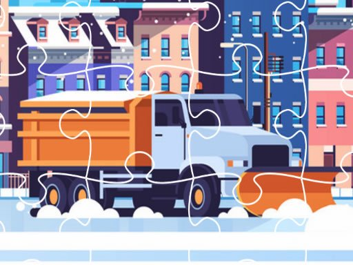 Snow Plow Trucks Jigsaw Online