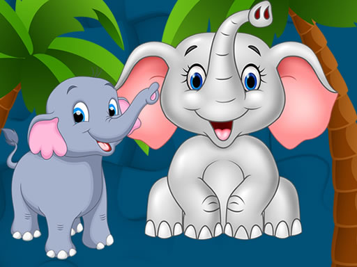 Sweet Elephants Jigsaw Online