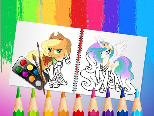 Sweet Pony Coloring Book Online