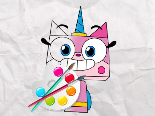 Unicorn Kitty Coloring Book Online